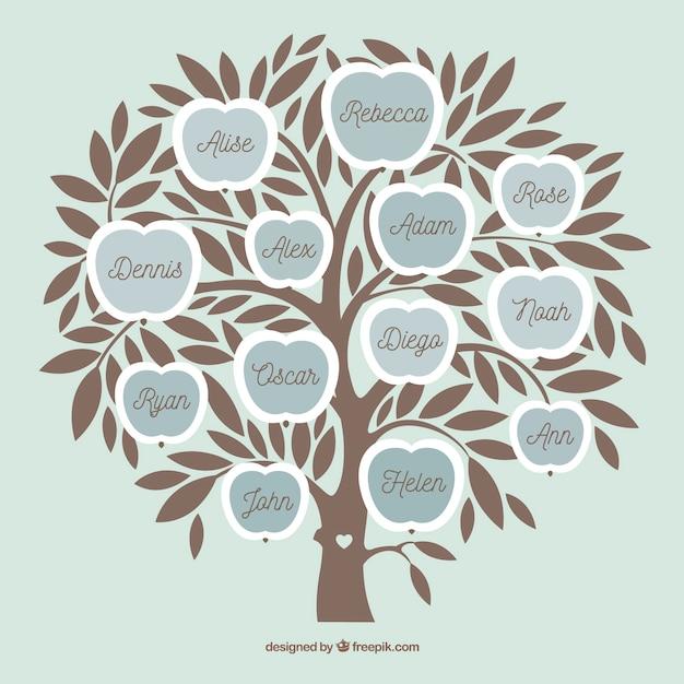 Modello di collage di foto con albero piatto Vettore gratuito