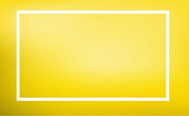 Modello di confine con sfondo giallo Vettore gratuito