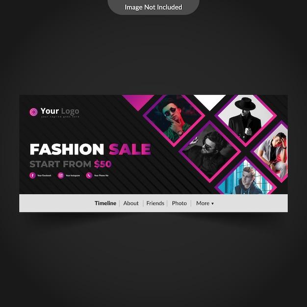 Modello di copertina del calendario facebook moda o fotografia Vettore Premium