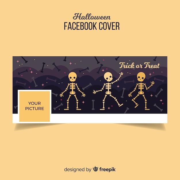 Modello di copertina facebook di halloween Vettore gratuito