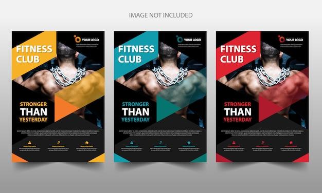Modello di copertina volantino brochure fitness membro Vettore Premium