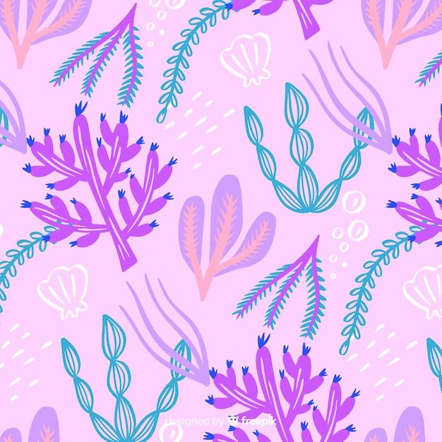 Modello di corallo disegnato a mano Vettore gratuito