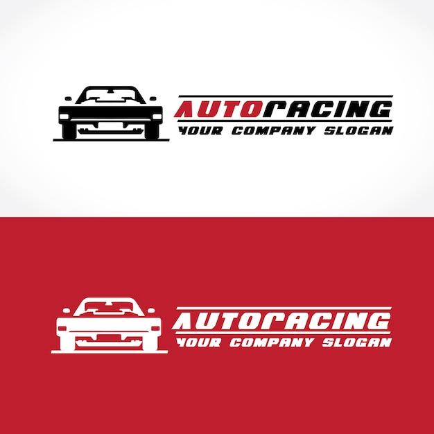 Modello di corse automobilistiche e logo automobilistico. Vettore Premium