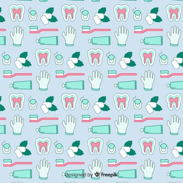Modello di dentista piatto Vettore gratuito