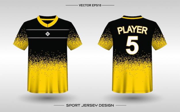 Modello di design della maglia sportiva per le divise della squadra Vettore Premium