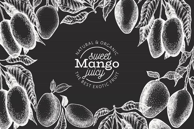 Modello di design di mango Vettore Premium