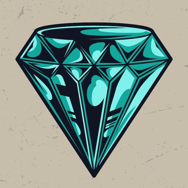 Modello di diamante colorato perfetto elegante Vettore gratuito