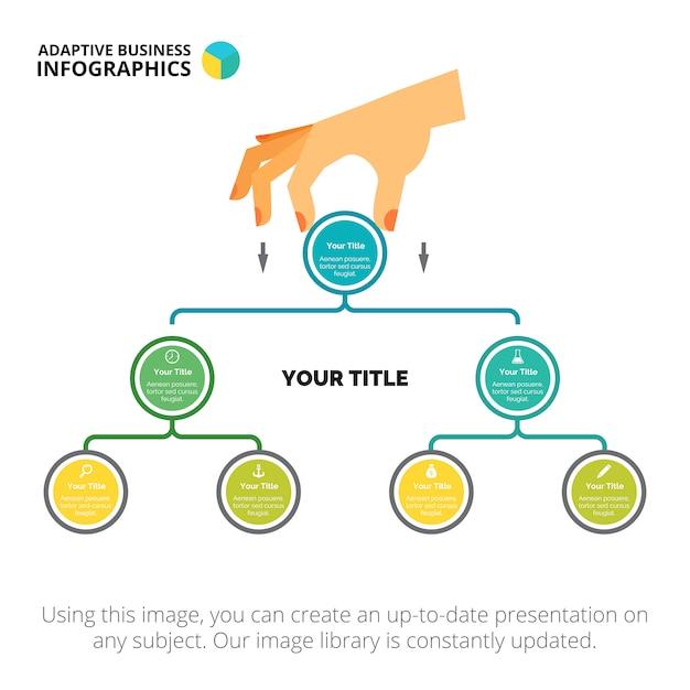 Modello di diapositiva del diagramma ad albero Vettore gratuito