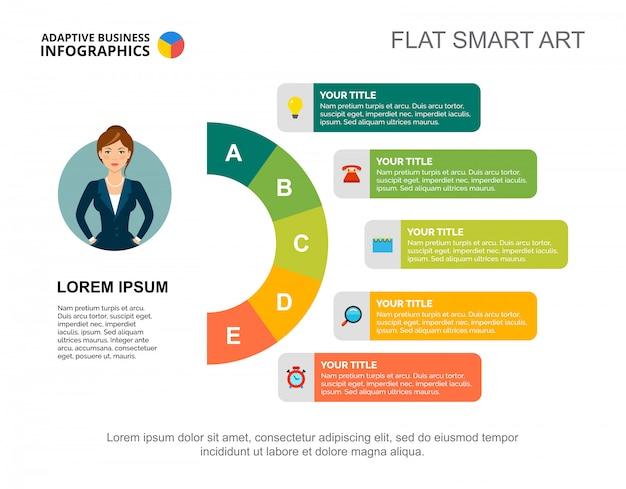 Modello di diapositiva della strategia aziendale. grafico. concept creativo per infografica, report. Vettore gratuito