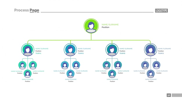 Modello di diapositiva struttura dell'albero aziendale Vettore gratuito