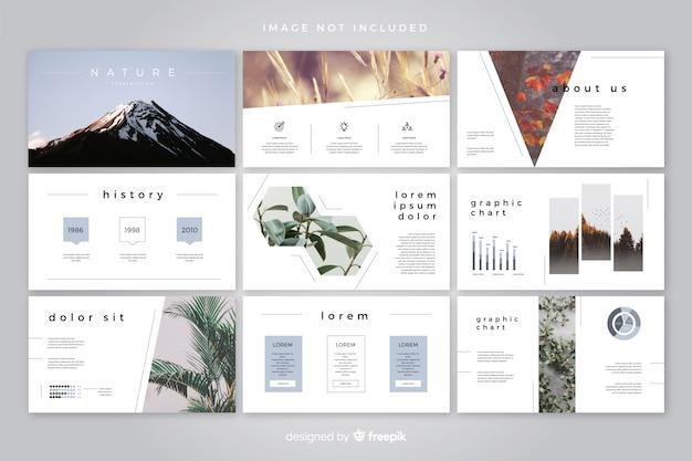 Modello di diapositive minime Vettore gratuito