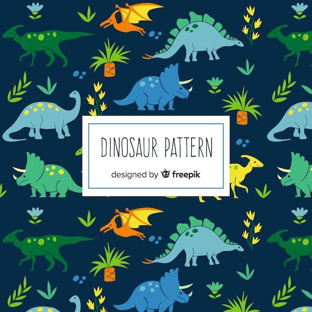 Modello di dinosauro disegnato a mano Vettore gratuito