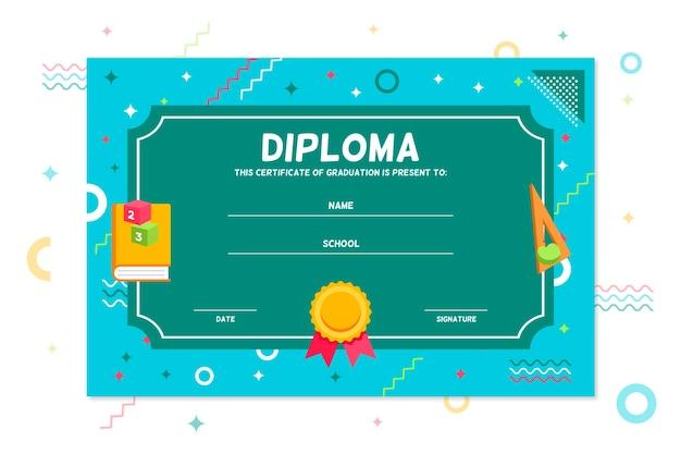 Modello di diploma per il concetto di bambini Vettore gratuito