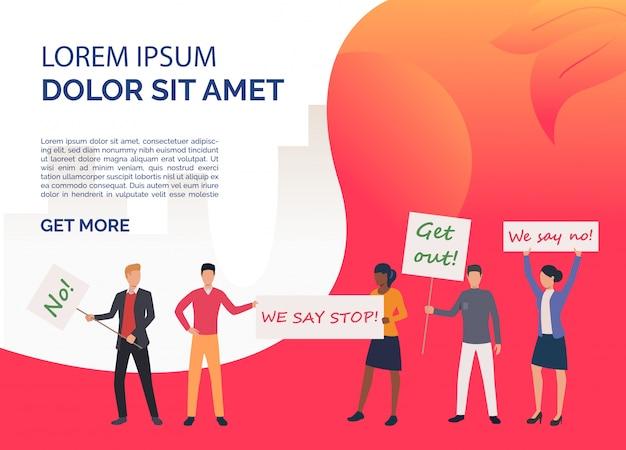 Modello di diritti di diapositiva di femminismo rosso Vettore gratuito