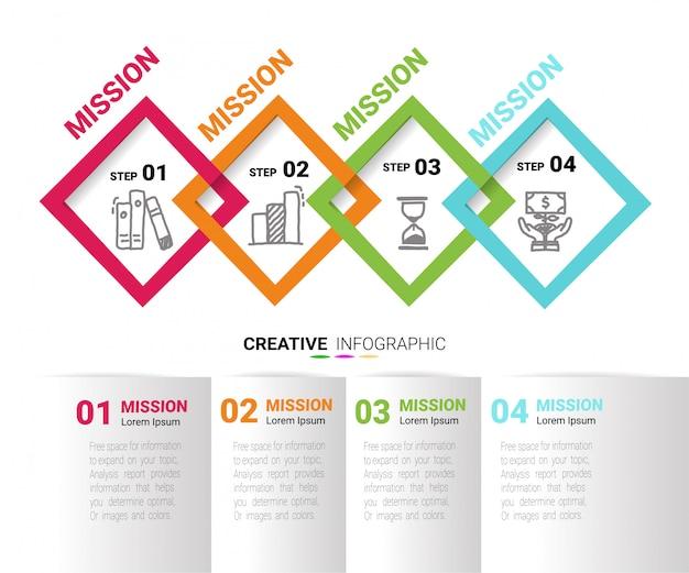 Modello di disegno di vettore infographics timeline Vettore Premium