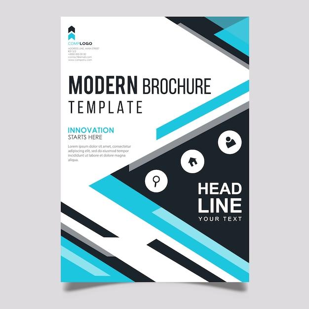 Modello di disegno vettoriale creativo opuscolo Vettore Premium