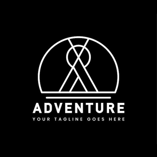 Modello di distintivo logo avventura all'aperto Vettore gratuito