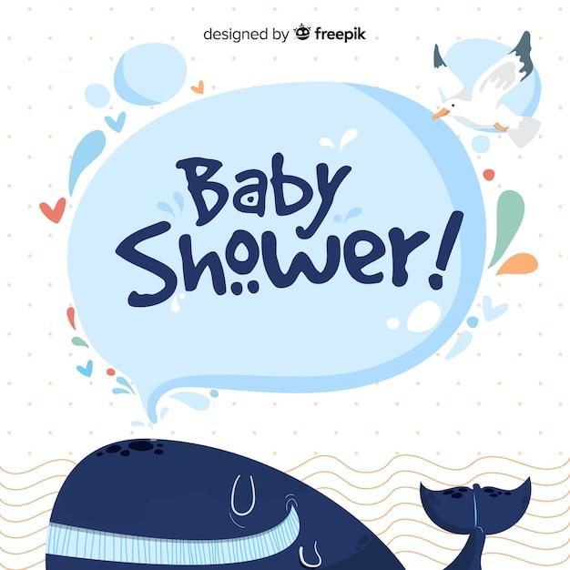 Modello di doccia per bambino Vettore gratuito