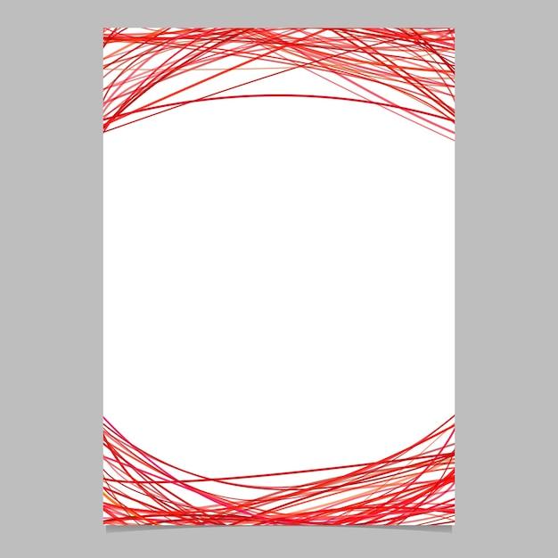 Modello di documento con strisce arcuate in toni rossi - illustrazione vettoriale in bianco illustrazione su sfondo bianco Vettore gratuito