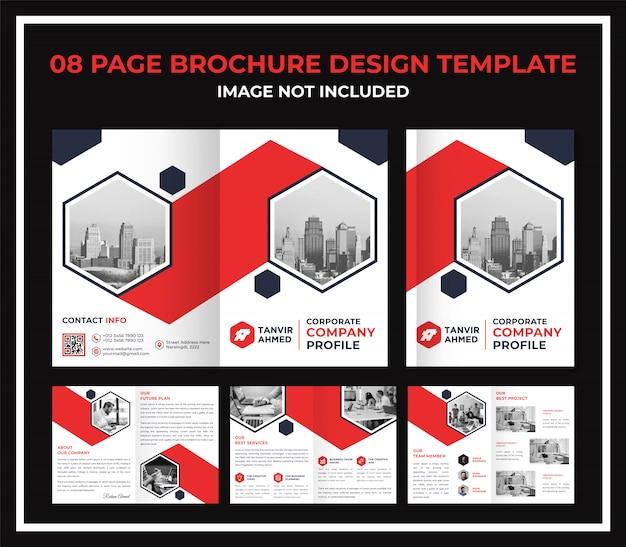Modello di dossier catalogo brochure pagina aziendale Vettore Premium