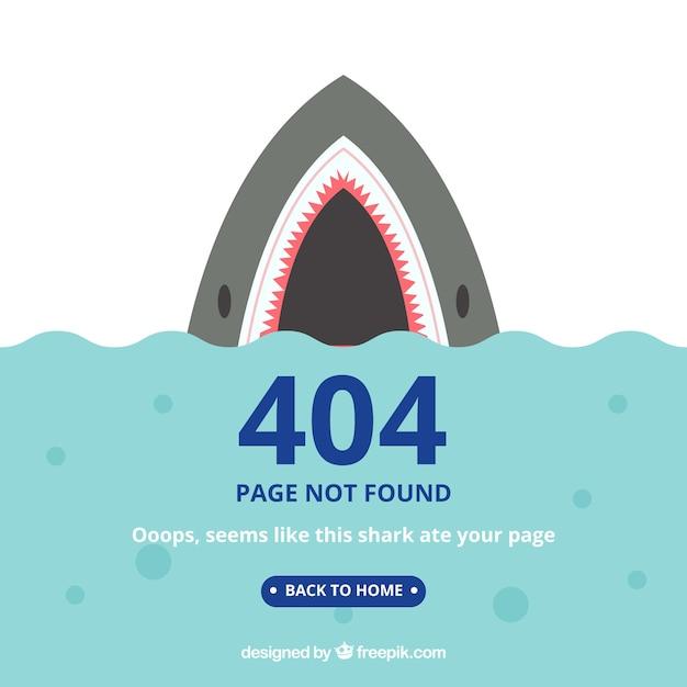 Modello di errore 404 in stile piano Vettore gratuito