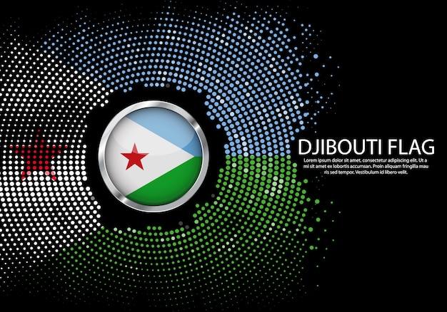 Modello di gradiente di mezzitoni sfondo della bandiera di gibuti. Vettore Premium