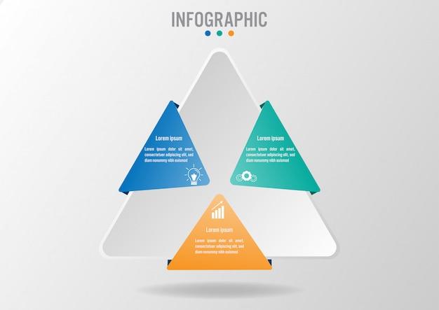 Modello di infografica aziendale con Vettore Premium