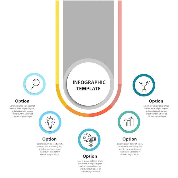 Modello di infografica concetto aziendale. Vettore Premium
