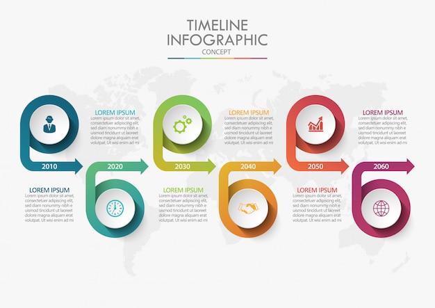 Modello di infografica di presentazione aziendale Vettore Premium