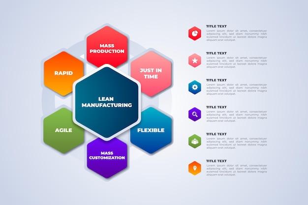 Modello di infografica di produzione colorata Vettore gratuito