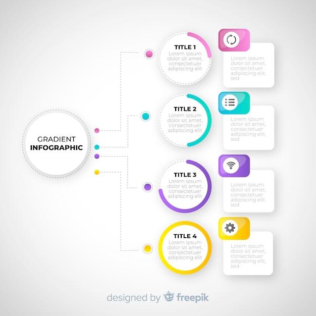 Modello di infografica gradiente piatto Vettore gratuito