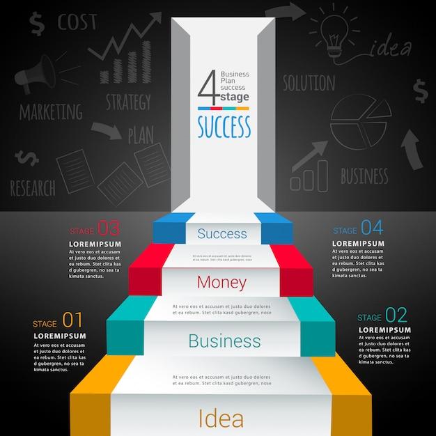 Modello di infografica moderna astratta Vettore Premium