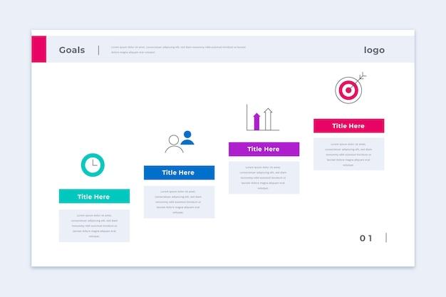 Modello di infografica obiettivi aziendali Vettore gratuito