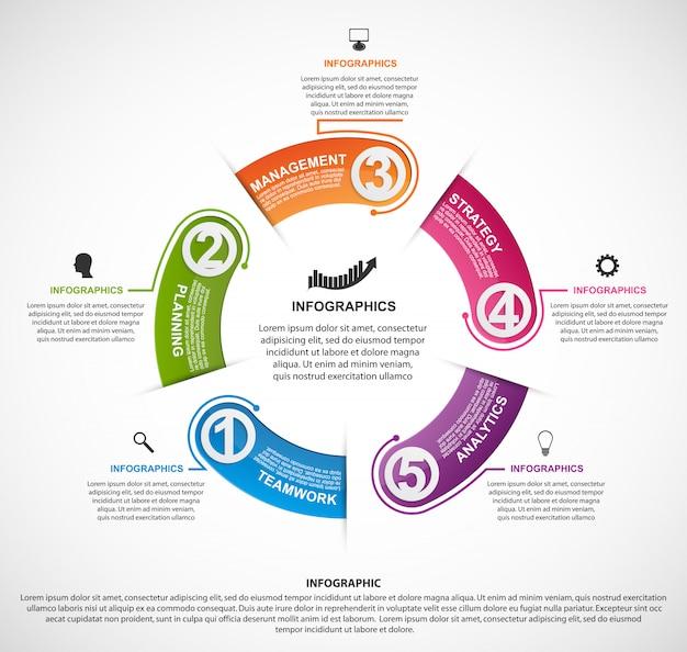 Modello di infografica per il business. Vettore Premium