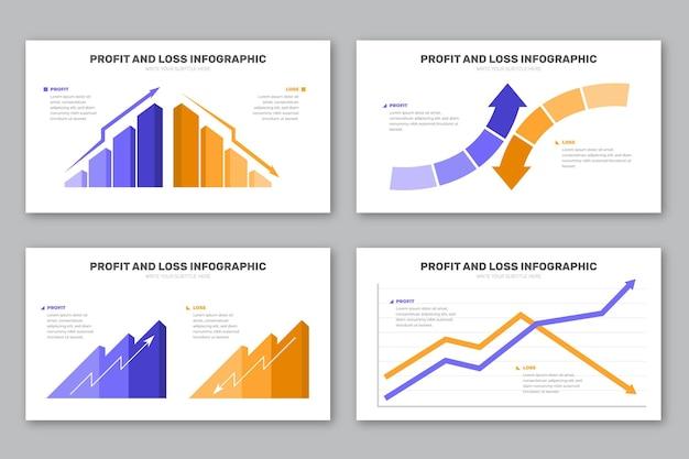 Modello di infografica profitti e perdite Vettore gratuito