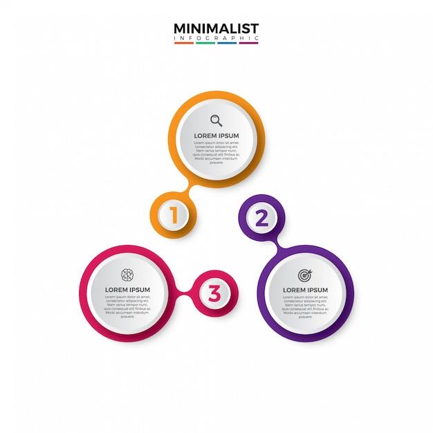 Modello di infografica stile semplice e minimalista. Vettore Premium