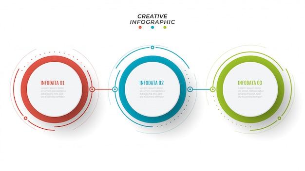 Modello di infografica timeline Vettore Premium