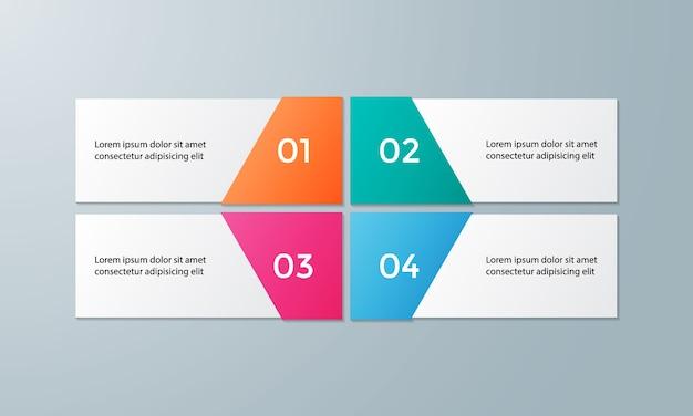 Modello di infografica vettoriale per diagramma Vettore Premium