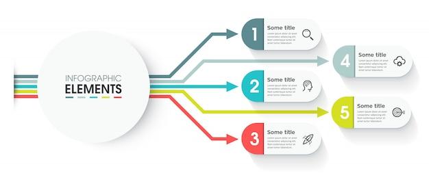 Modello di infografica vettoriale Vettore Premium