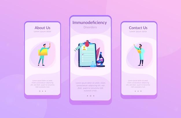 Modello di interfaccia app aids. Vettore Premium
