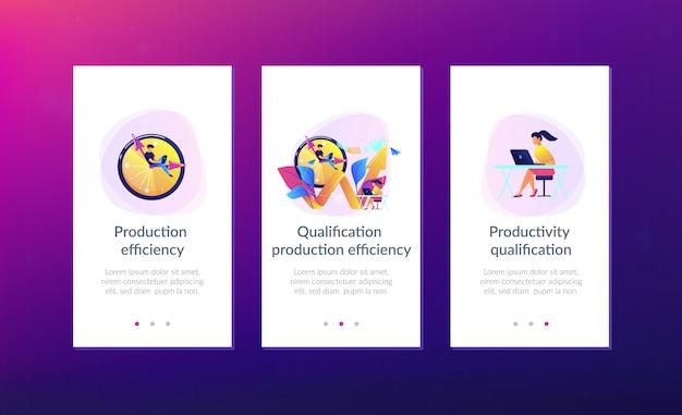 Modello di interfaccia dell'app produttività Vettore Premium