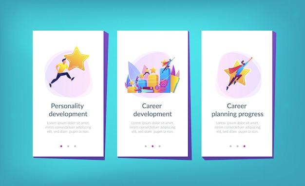 Modello di interfaccia per app per lo sviluppo della carriera Vettore Premium