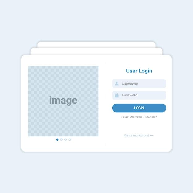 Modello di interfaccia utente moderno login Vettore Premium