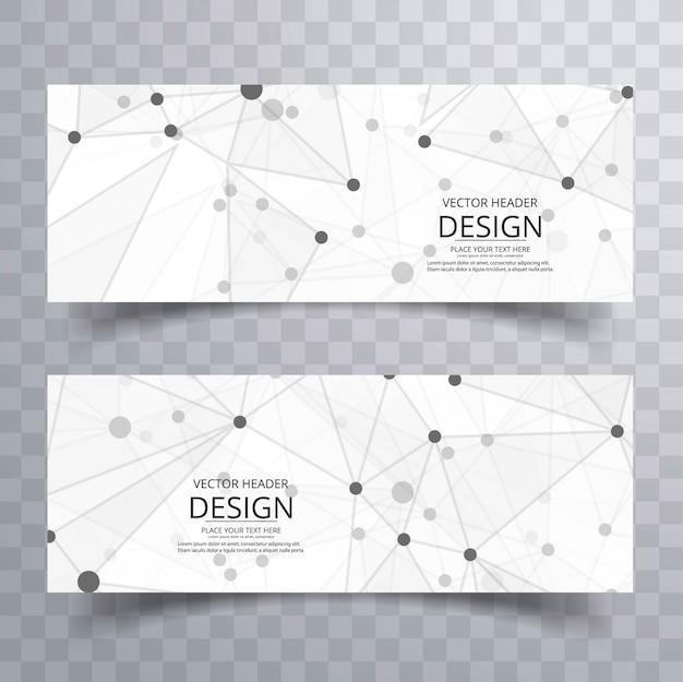 Modello di intestazione creativo astratto poligono Vettore gratuito