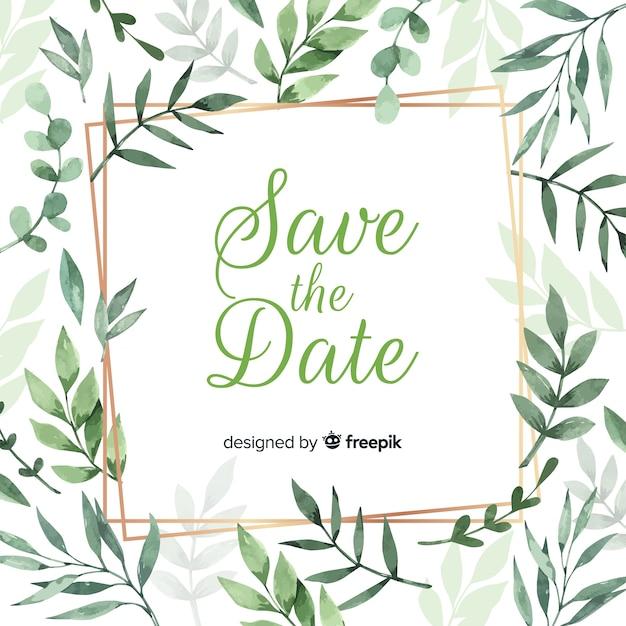 Modello di invito a nozze floreali Vettore gratuito