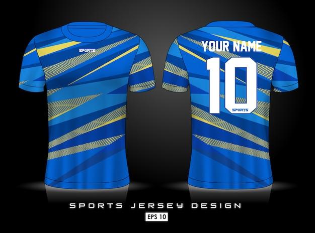 Modello di jersey sportivo Vettore Premium