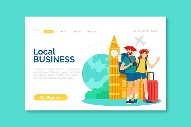 Modello di landing page del turismo locale Vettore gratuito
