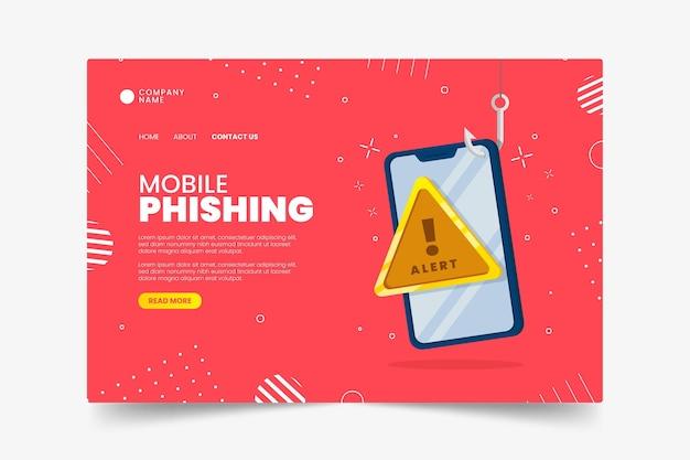 Modello di landing page per phishing mobile Vettore gratuito