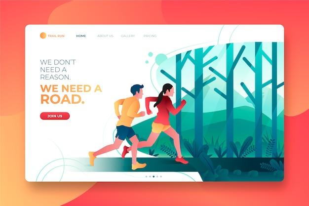 Modello di landing page per sport all'aperto Vettore gratuito
