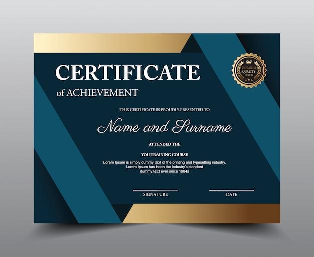 Modello di layout del certificato. Vettore Premium